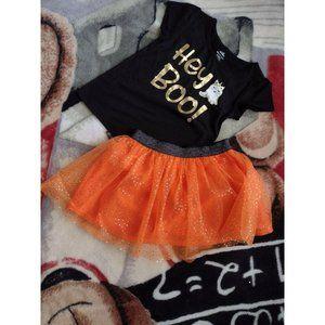Halloween Toddler Girl 2pc, 2T Outfit Shirt / TuTu